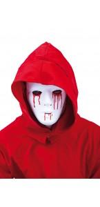 Masque Blanc homme larme sang