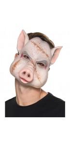 Masque cochon du diable en latex Halloween