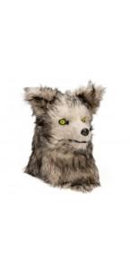 Masque de loup gris yeux rouges led