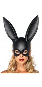 Masque  latex noir avec oreilles géantes