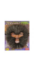 Masque loup-garou marron adulte
