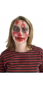 Masque Transparent femme avec sang