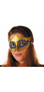 Masque vénitien bleu et or