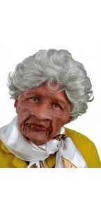 Masque vieille-tante-bouche articulée Halloween