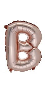Mini Ballon Lettre B aluminium rose gold