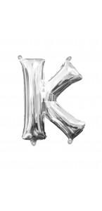 Mini Ballon Lettre K argent