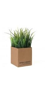 Mini Plante verte artificielle herbe 10 x 10 x 15 cm