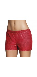 Mini short  sequins rouge taille M