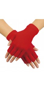 Mitaines rouges en tricot