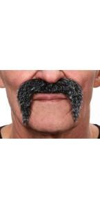 Moustache Baroudeur poivre et sel
