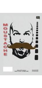 Moustache de gendarme Chatain