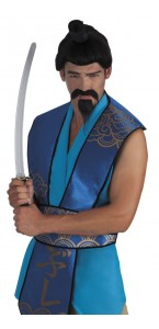 Moustache et barbe de samouraï