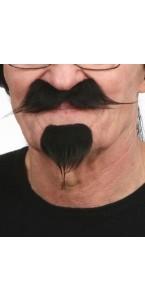Moustache et barbichette noires