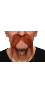 Moustache Gauloise rousse