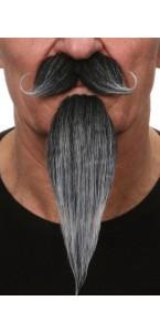Moustache mousquetaire noire et blanche