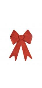 Nœud pailleté Noël rouge 30 cm