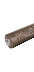 Nappe chocolat  papie   damassé 6 m