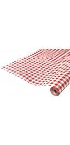 Nappe en papier vichy rouge 25 m