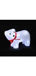 Ours sur pattes acrylique 16 leds blanches 17 x 19 x 12 cm