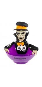 Panier à bonbons squelette Dia Halloween 24 x 27 cm