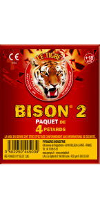 Paquet de pétards mèches  Bisons 2  F3