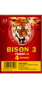 Paquet de pétards mèches  Bisons 3 F3