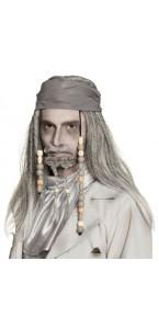 Perruque Pirate fantôme de luxe Halloween