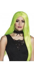 Perruque vert fluo Halloween