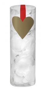 Boîte de 288 Pétales de rose blancs en tissu