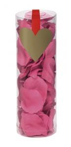 Boîte de 288 Pétales de rose roses en tissu