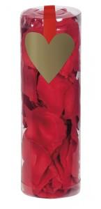 Boîte de 288 Pétales de rose rouges en tissu