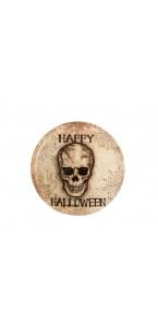 Plat tête de mort Halloween 33 cm