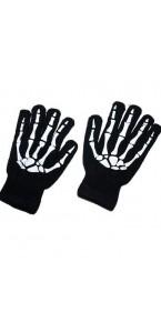 Paire de gants squelette 3D Halloween