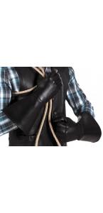 Paire de gants western en simili cuir