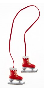 Paire de patins déco rouges