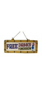Pancarte Deco free drinks