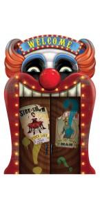 Panneau à prisme Clown effrayant Halloween