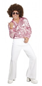 Pantalon disco homme blanc