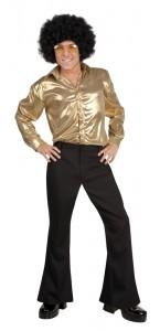 Pantalon disco homme noir