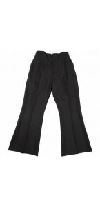Pantalon pat d'éph stretch noir