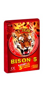 Paquet de Pétards à mèches le Tigre Bisons 5