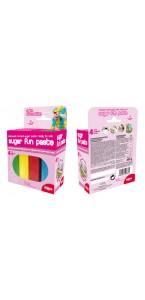Pâte à sucre/fondant 4 couleurs assorties 400gr