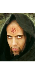 Pentagramme fer rouge Halloween