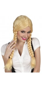 Perruque avec nattes natacha blonde
