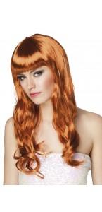 Perruque cheveux longs Chique pour femme cuivre