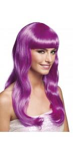 Perruque cheveux longs Chique pour femme violet