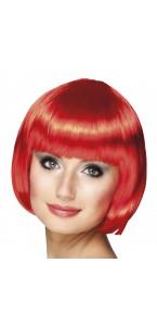 Perruque courte cabaret pour femme rouge