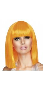 Perruque dance orange fluo