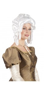 Perruque de marquise pour femme blanche