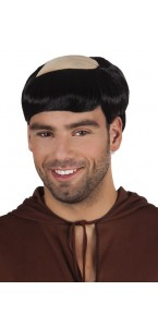 Perruque de moine avec tonsure